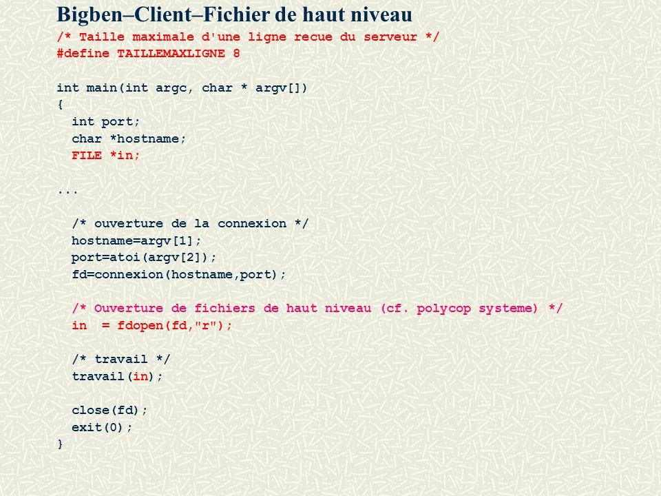 Bigben–Client–Fichier de haut niveau