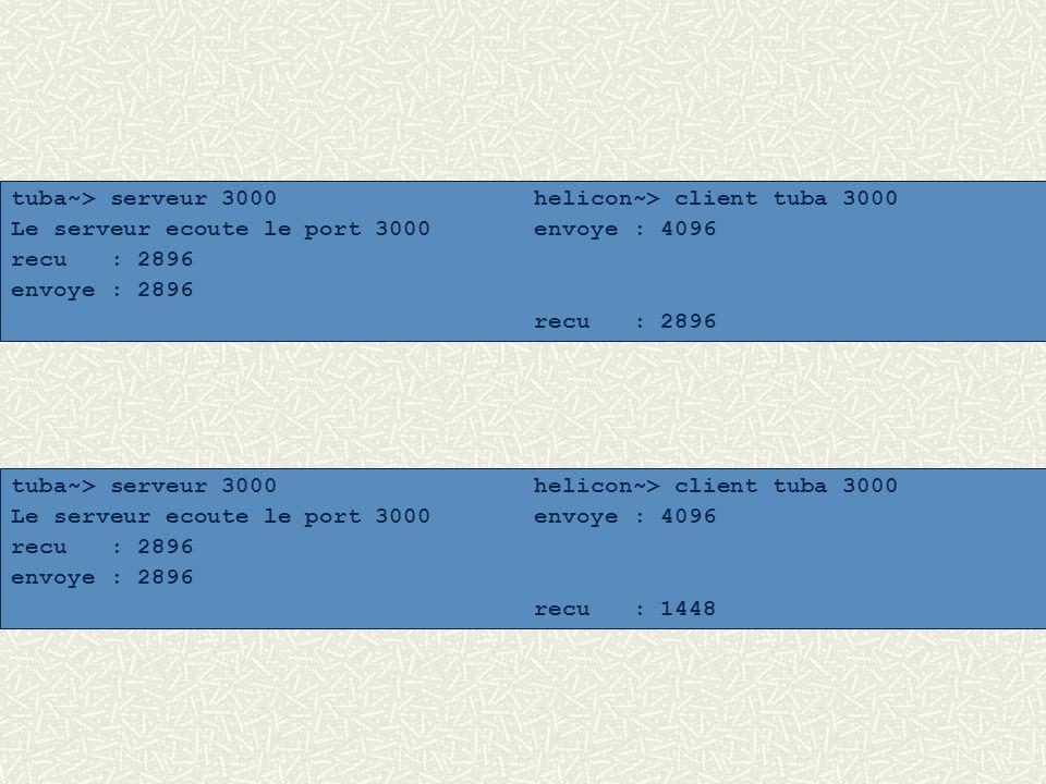 tuba~> serveur 3000 helicon~> client tuba 3000