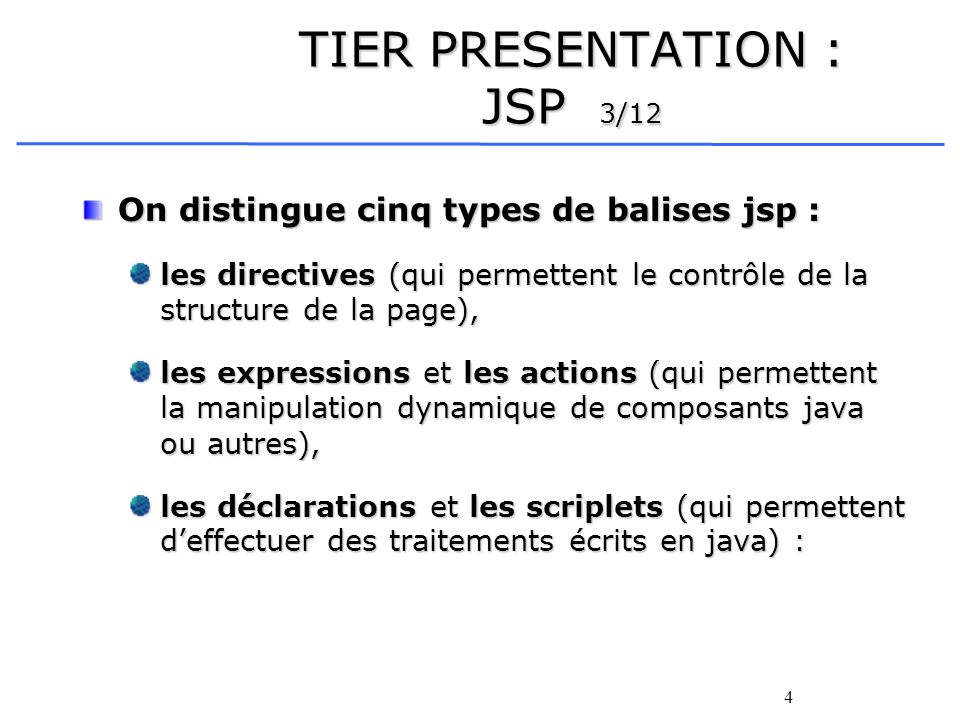 TIER PRESENTATION : JSP 3/12