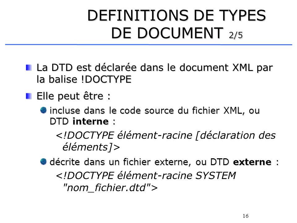 DEFINITIONS DE TYPES DE DOCUMENT 2/5
