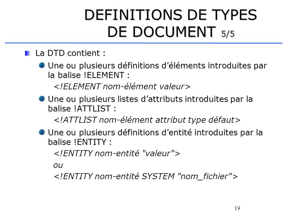 DEFINITIONS DE TYPES DE DOCUMENT 5/5