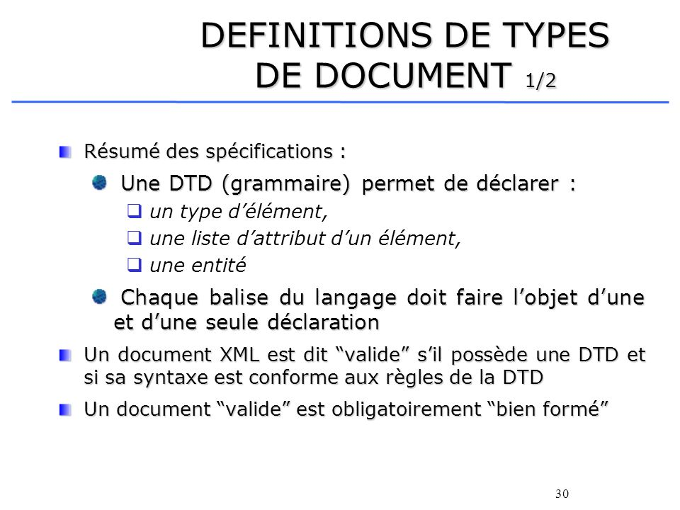 DEFINITIONS DE TYPES DE DOCUMENT 1/2