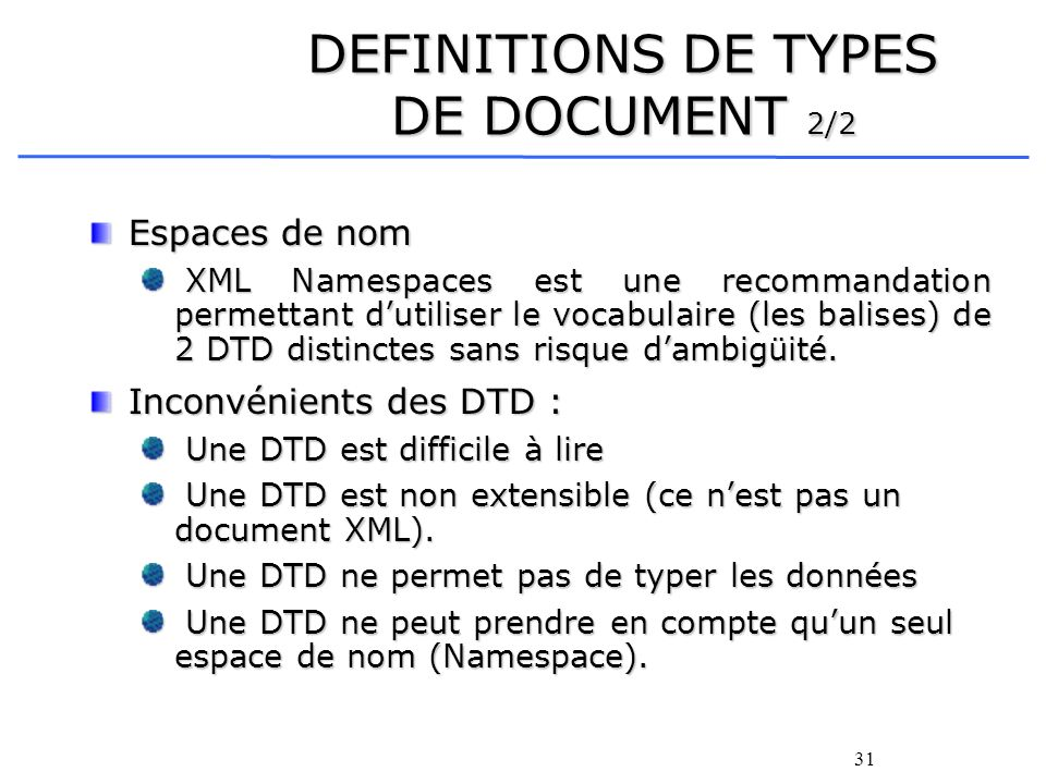 DEFINITIONS DE TYPES DE DOCUMENT 2/2