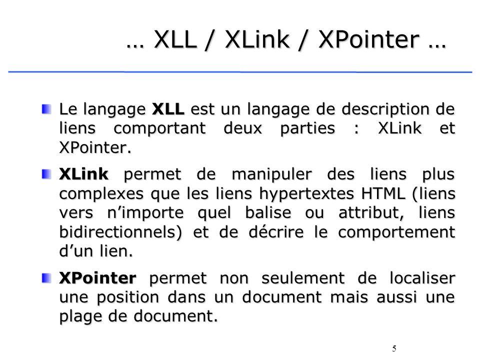 … XLL / XLink / XPointer …