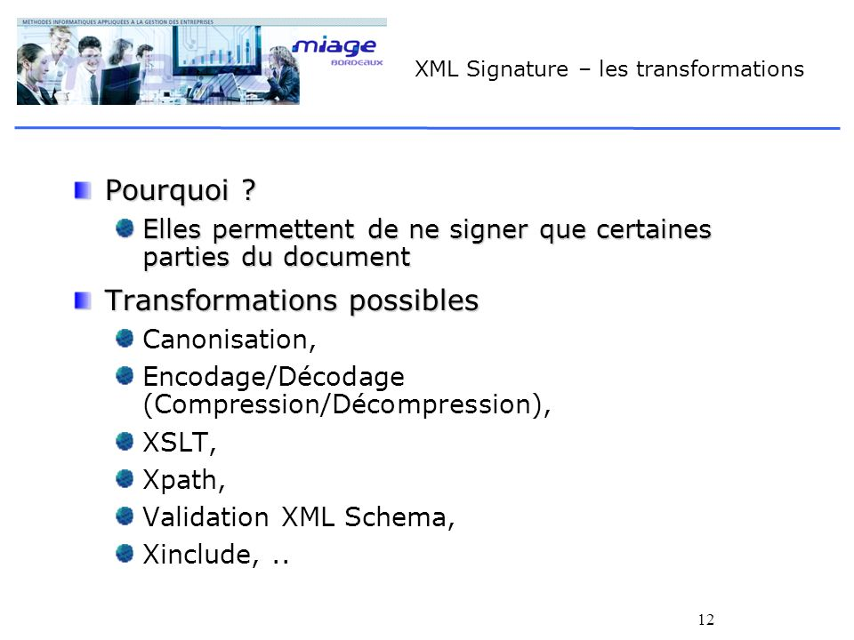 XML Signature – les transformations