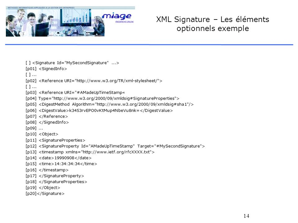 XML Signature – Les éléments optionnels exemple