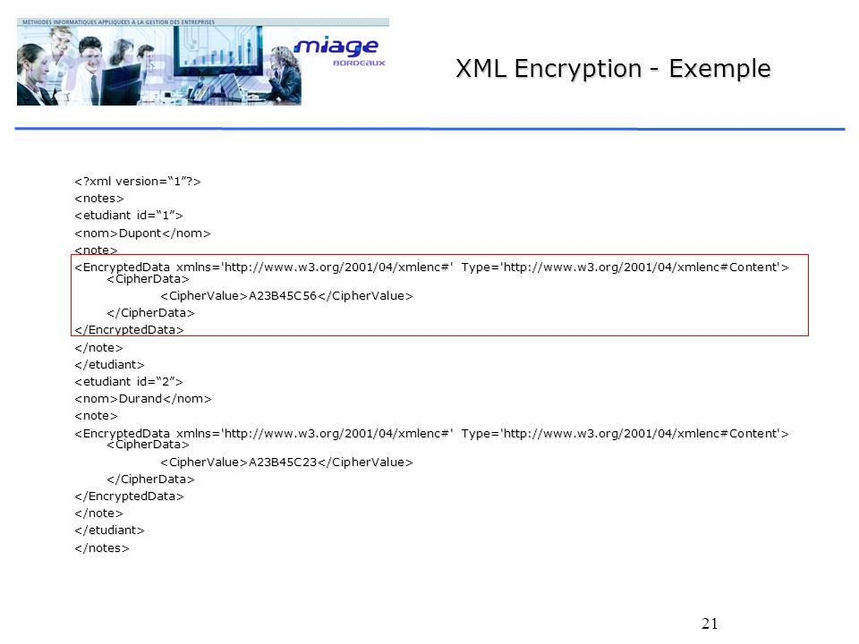 XML Encryption - Exemple