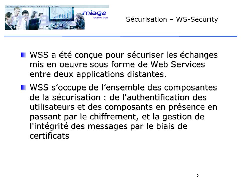 Sécurisation – WS-Security
