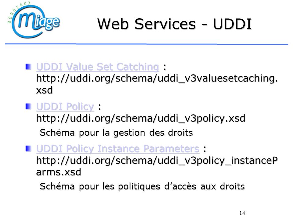 Web Services - UDDI UDDI Value Set Catching : http://uddi.org/schema/uddi_v3valuesetcaching.xsd.