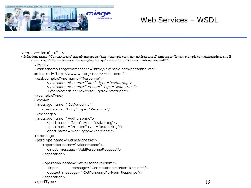 Web Services – WSDL < xml version= 1.0 >