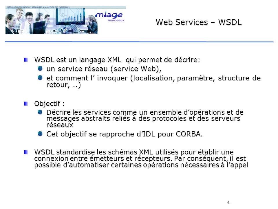 Web Services – WSDL un service réseau (service Web),