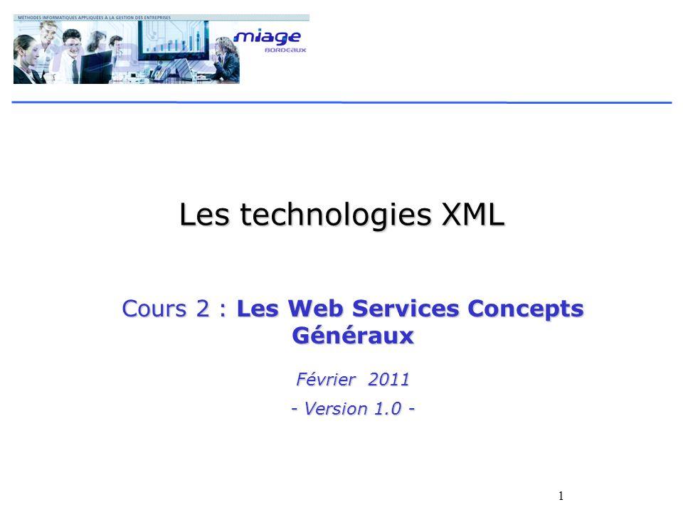 Cours 2 : Les Web Services Concepts Généraux