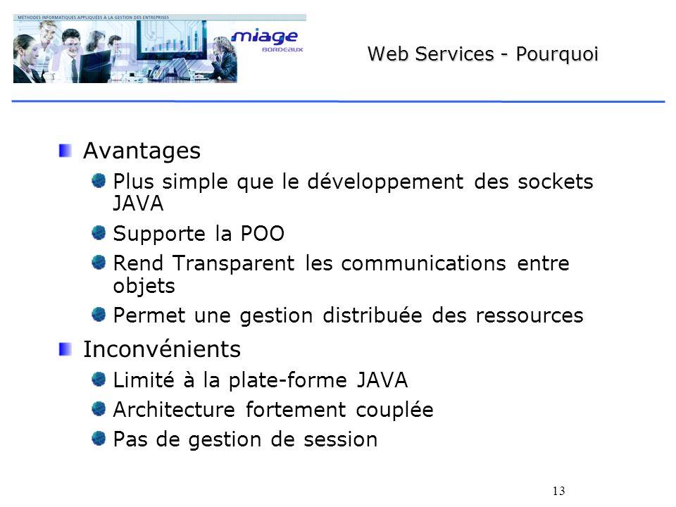 Web Services - Pourquoi
