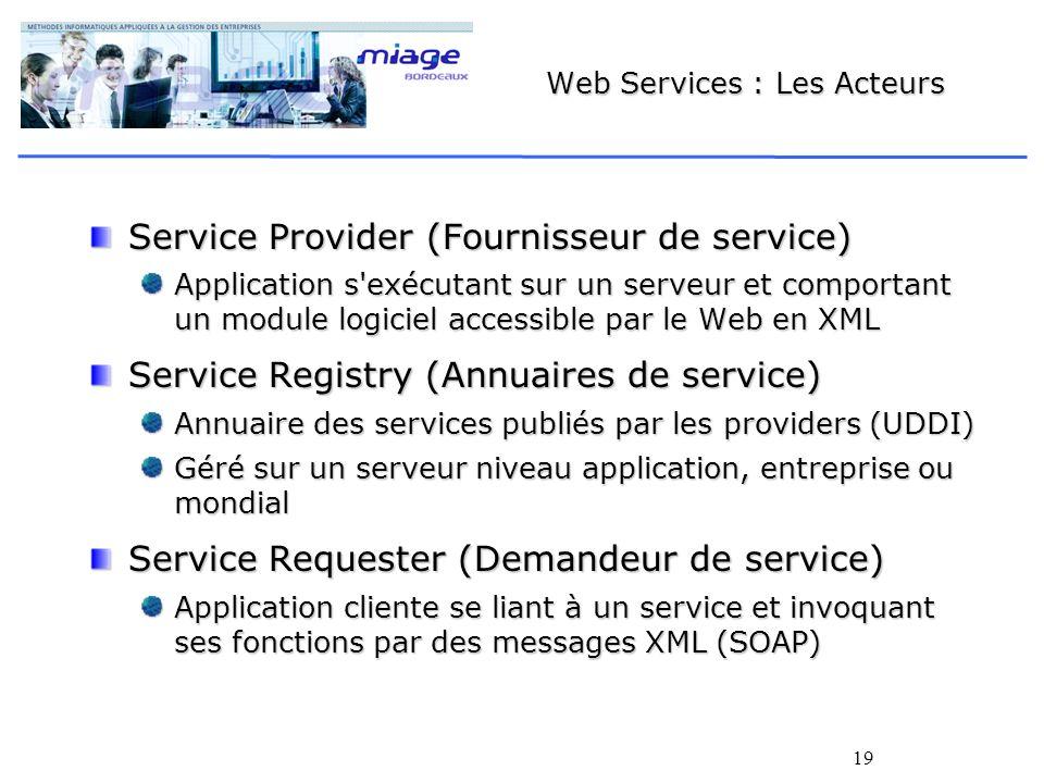 Web Services : Les Acteurs