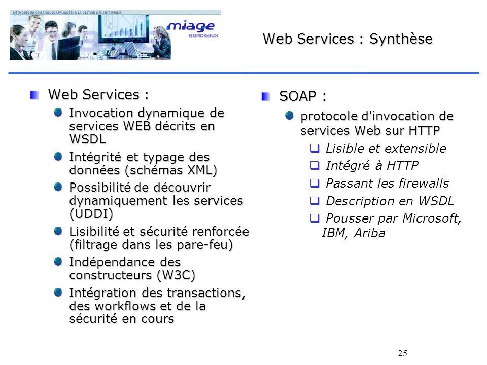 Web Services : Synthèse