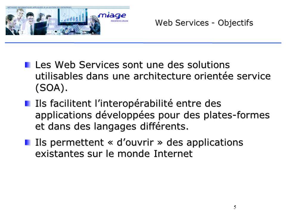 Web Services - Objectifs