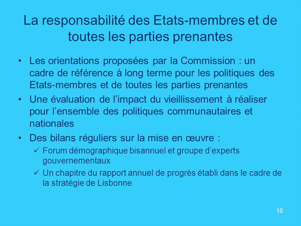 La responsabilité des Etats-membres et de toutes les parties prenantes