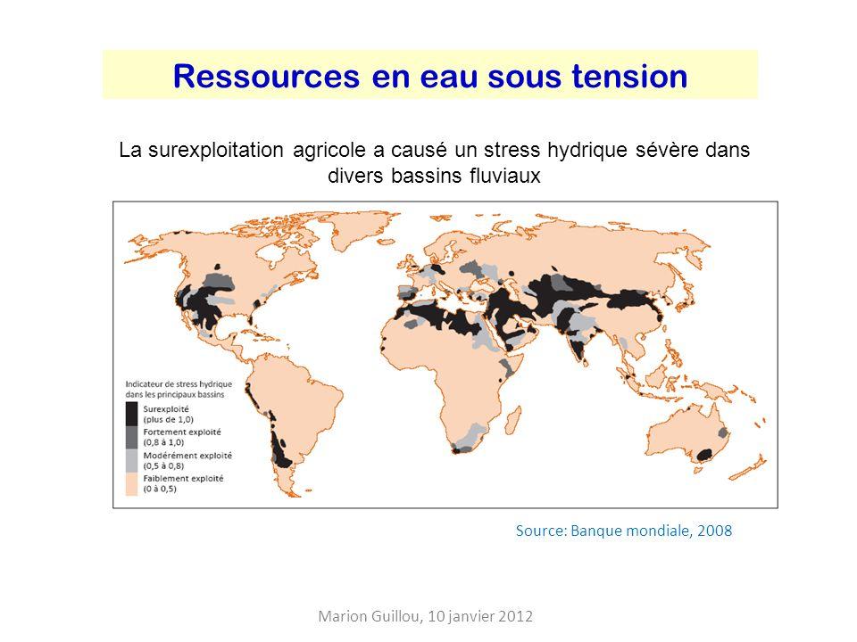 Ressources en eau sous tension