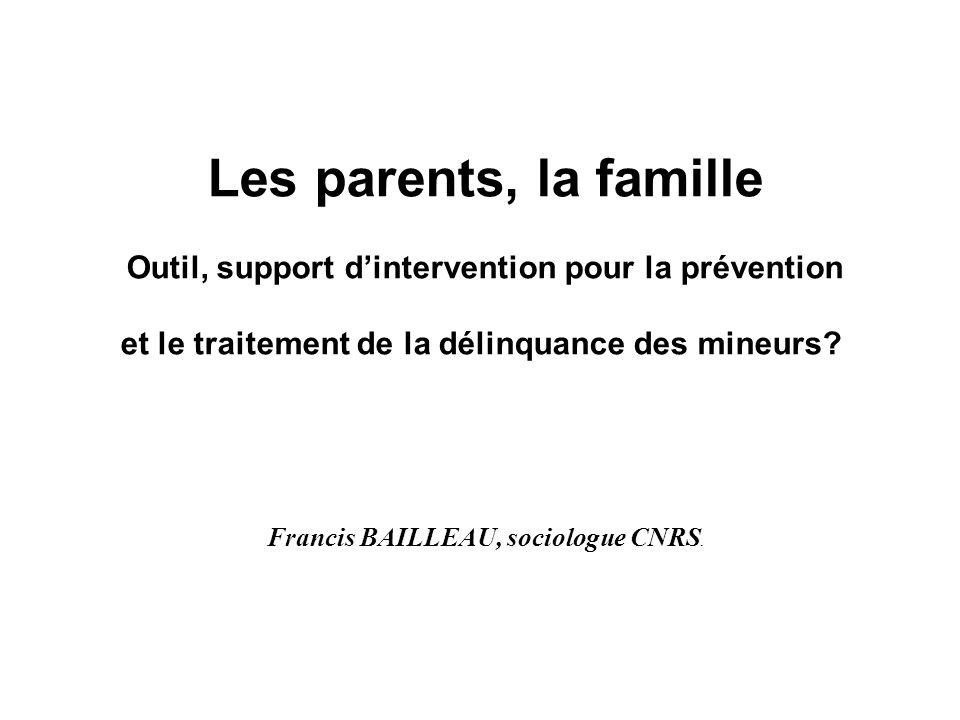 Francis BAILLEAU, sociologue CNRS.