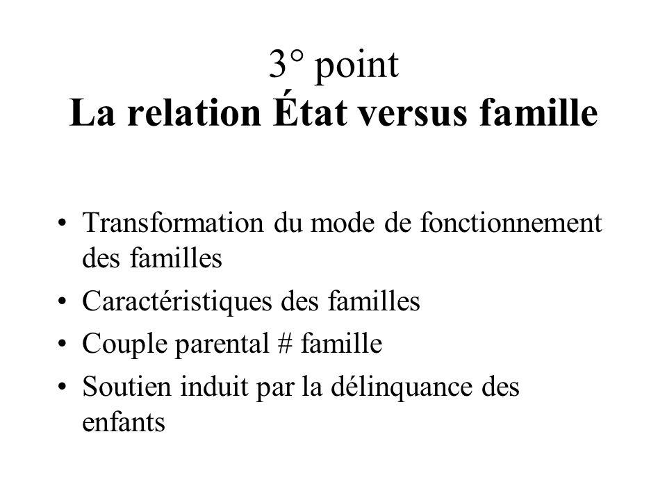 3° point La relation État versus famille