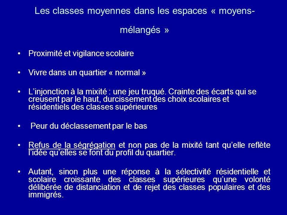 Les classes moyennes dans les espaces « moyens-mélangés »