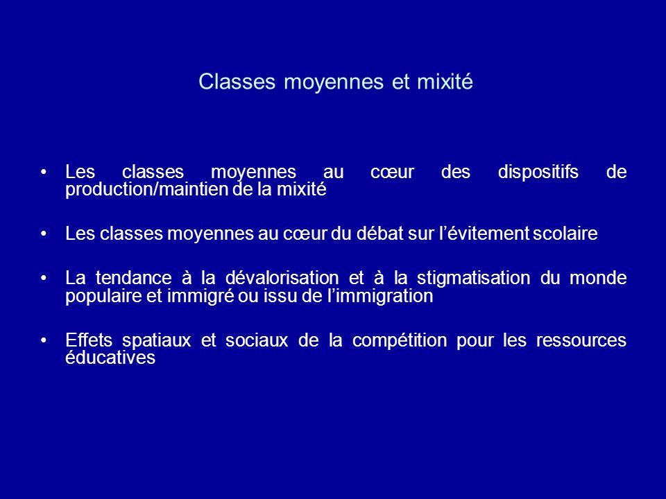 Classes moyennes et mixité