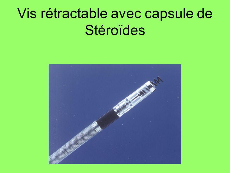 Vis rétractable avec capsule de Stéroïdes