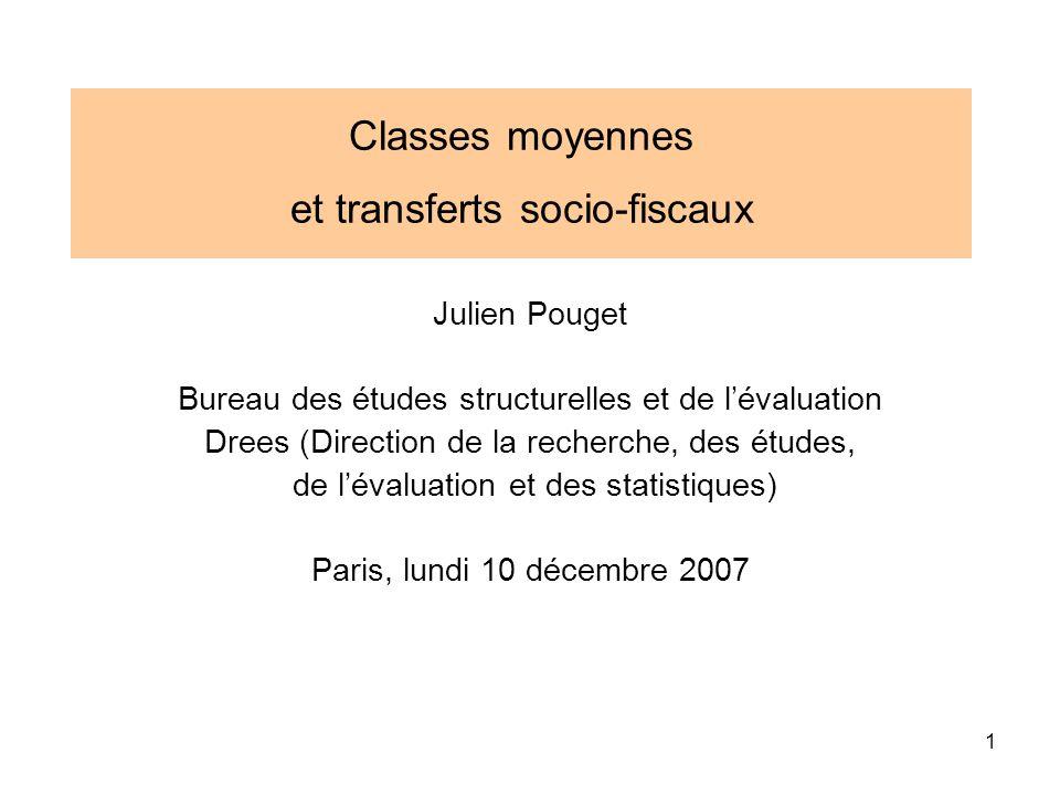 Classes moyennes et transferts socio-fiscaux