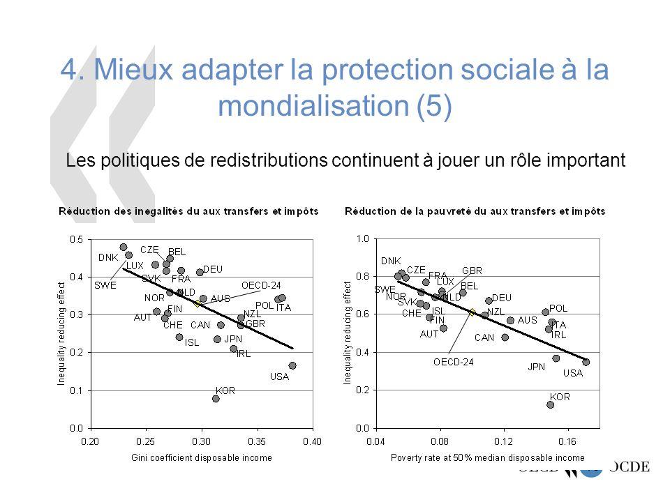 4. Mieux adapter la protection sociale à la mondialisation (5)