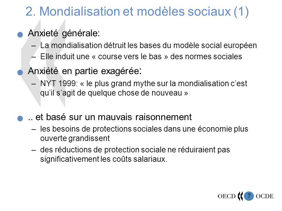 2. Mondialisation et modèles sociaux (1)