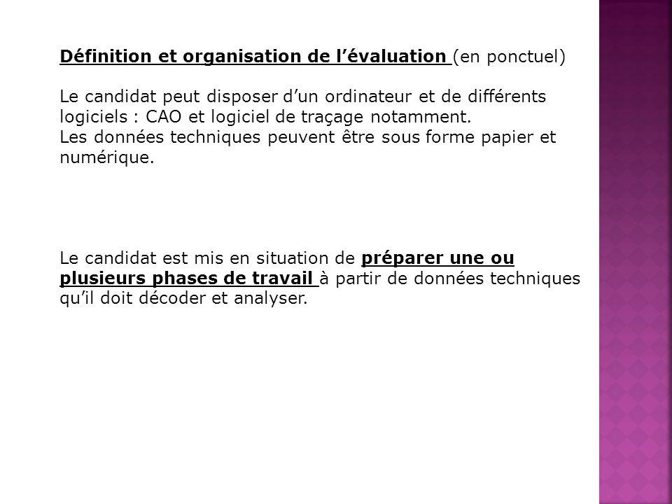 Définition et organisation de l'évaluation (en ponctuel)