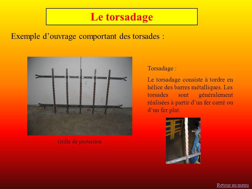 Le torsadage Exemple d'ouvrage comportant des torsades : Torsadage :