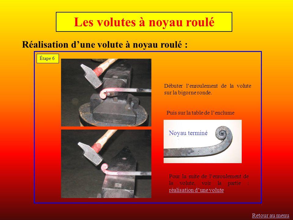 Les volutes à noyau roulé Réalisation d'une volute à noyau roulé :