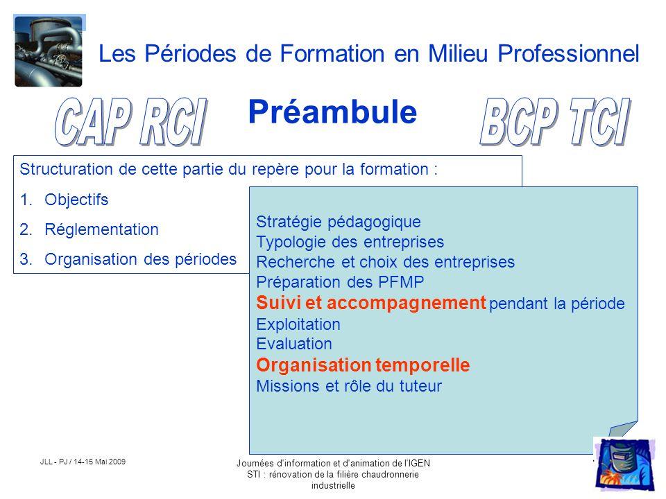Préambule CAP RCI BCP TCI