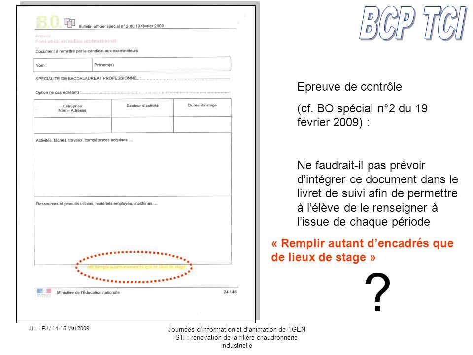 BCP TCI Epreuve de contrôle