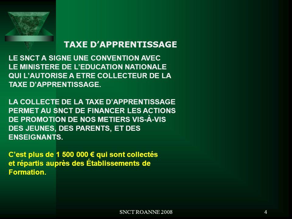 TAXE D'APPRENTISSAGE LE SNCT A SIGNE UNE CONVENTION AVEC