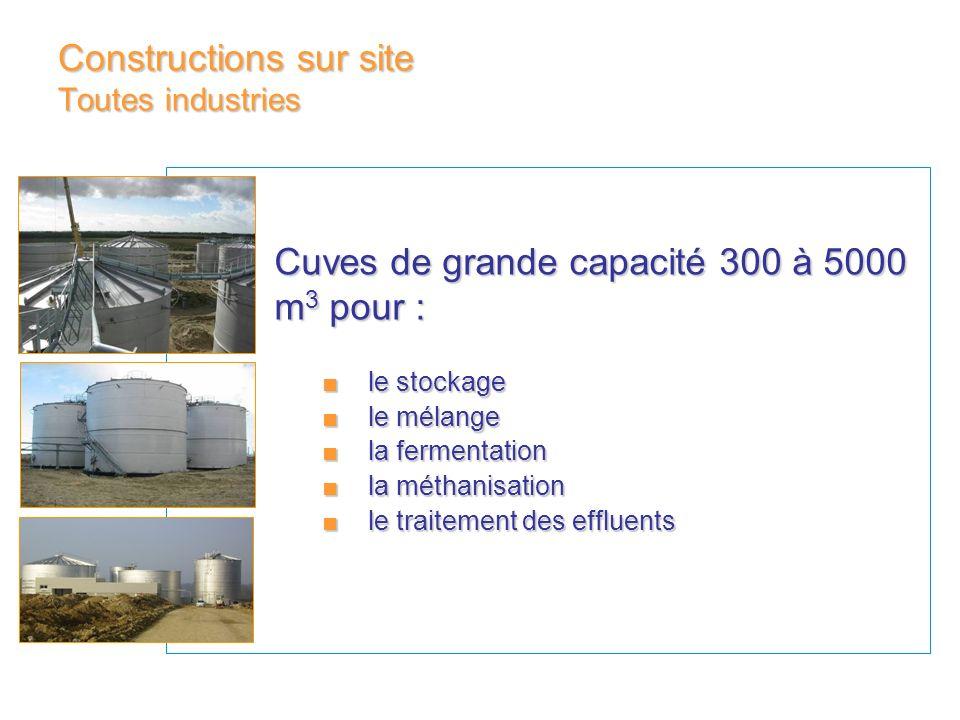 Constructions sur site Toutes industries