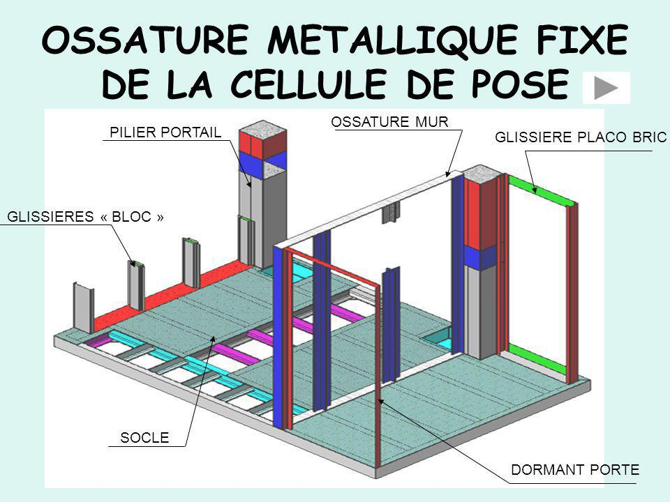 OSSATURE METALLIQUE FIXE DE LA CELLULE DE POSE