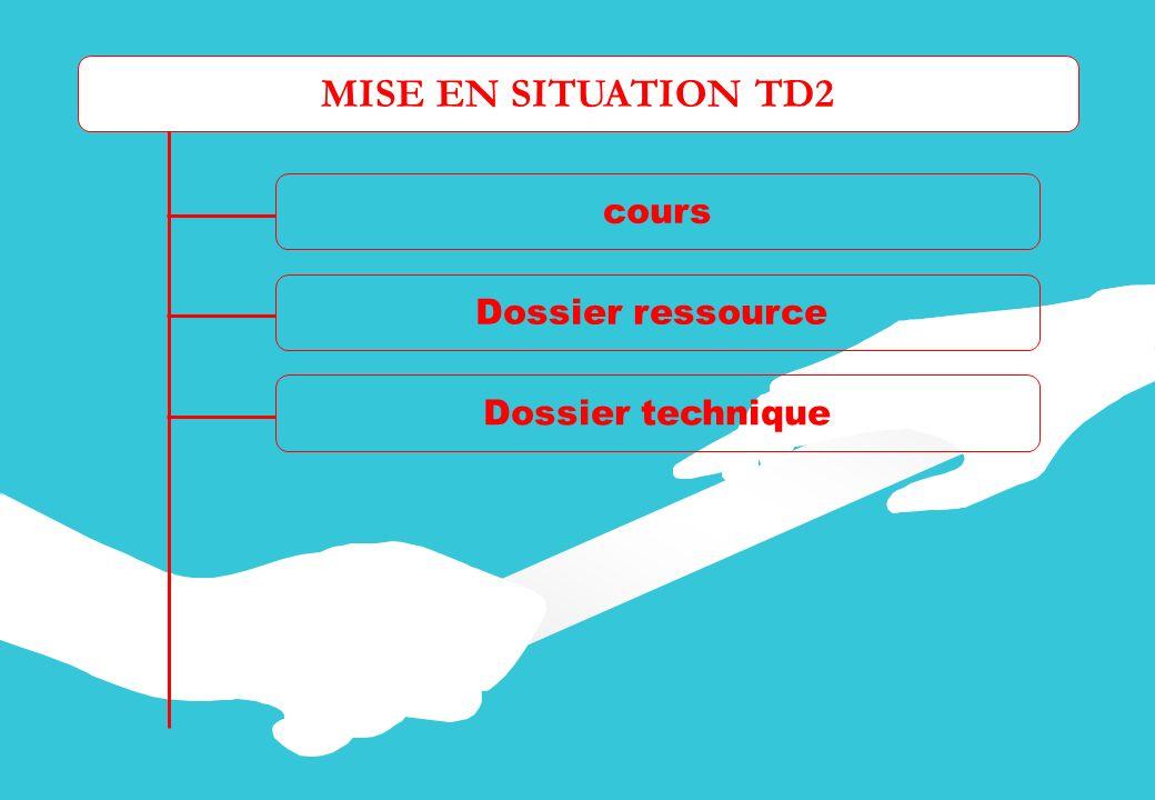 MISE EN SITUATION TD2 cours Dossier ressource Dossier technique