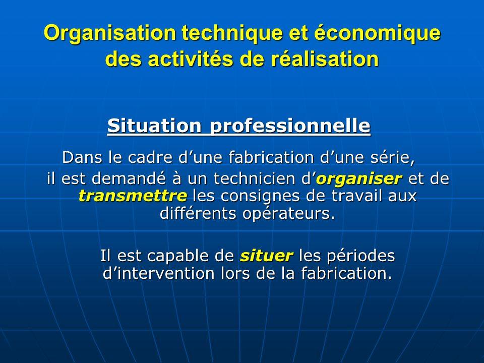 Organisation technique et économique des activités de réalisation