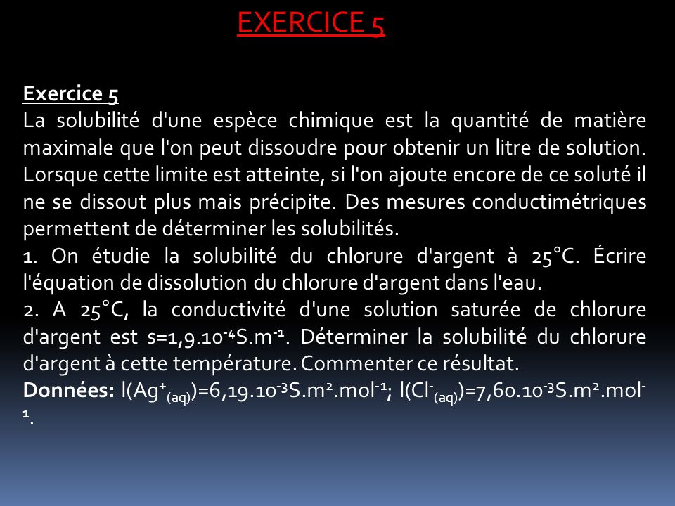 EXERCICE 5 Exercice 5.