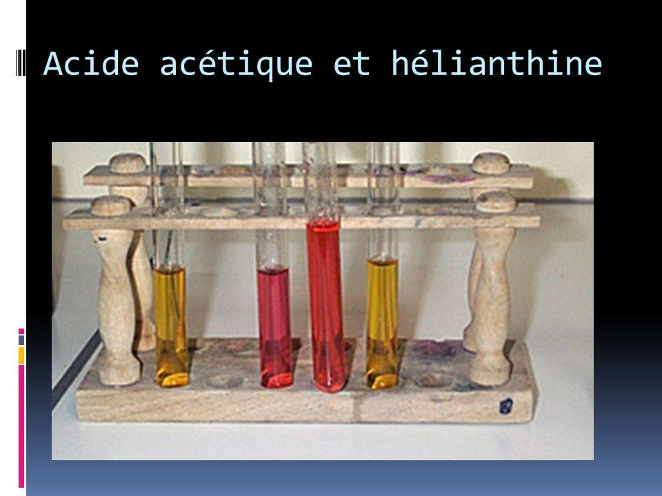 Acide acétique et hélianthine