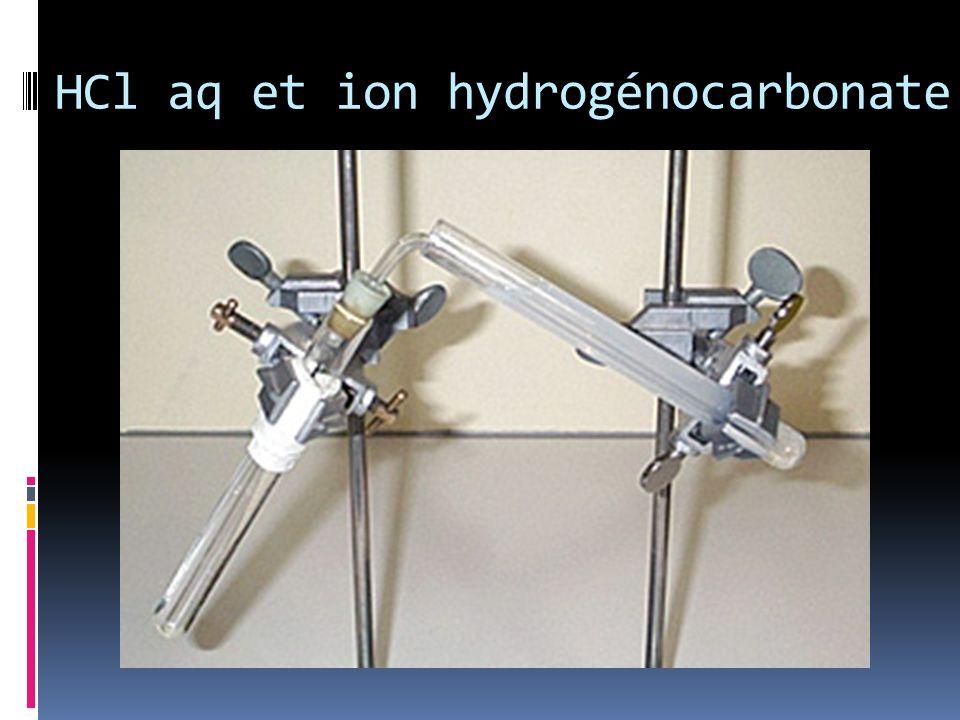 HCl aq et ion hydrogénocarbonate