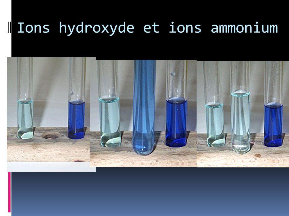 Ions hydroxyde et ions ammonium