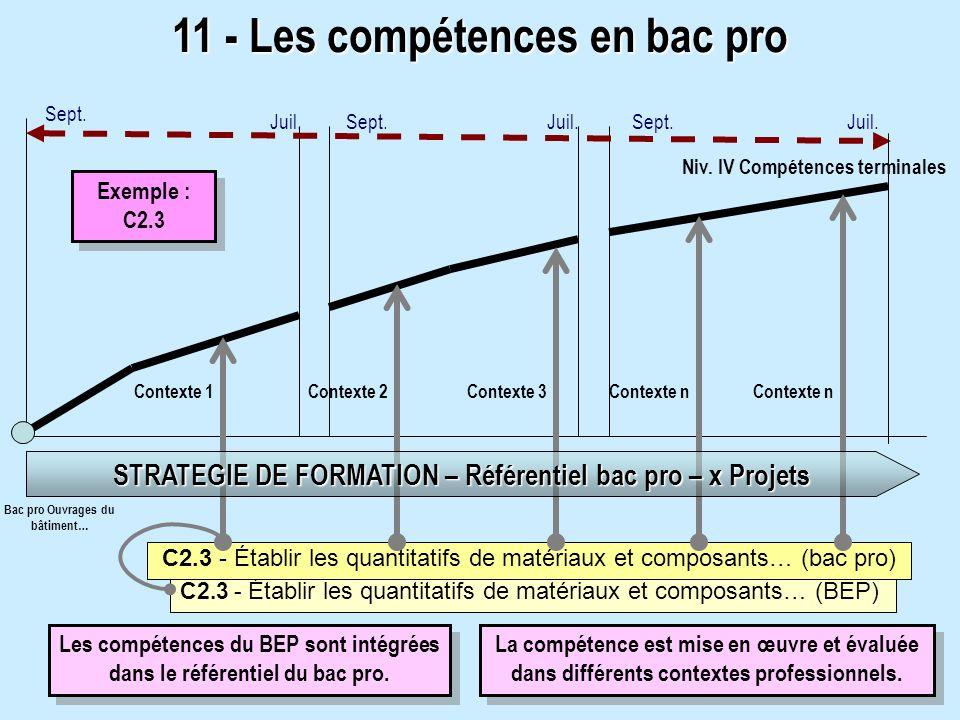 11 - Les compétences en bac pro
