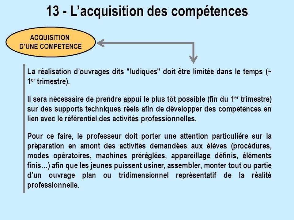 13 - L'acquisition des compétences