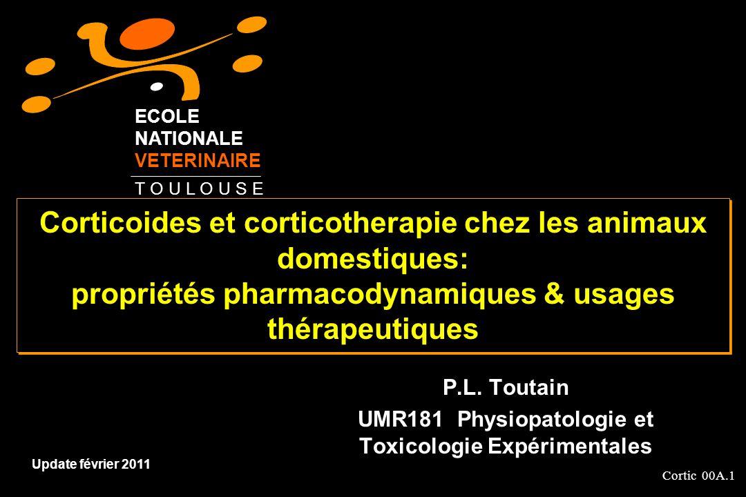 P.L. Toutain UMR181 Physiopatologie et Toxicologie Expérimentales