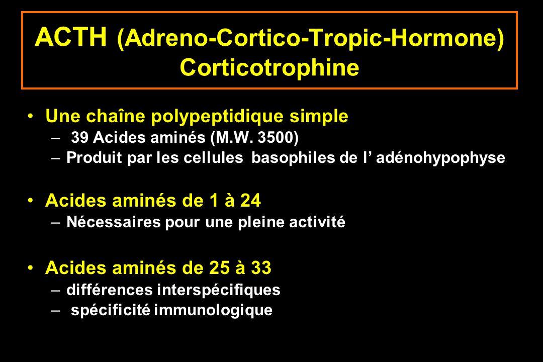 ACTH (Adreno-Cortico-Tropic-Hormone) Corticotrophine