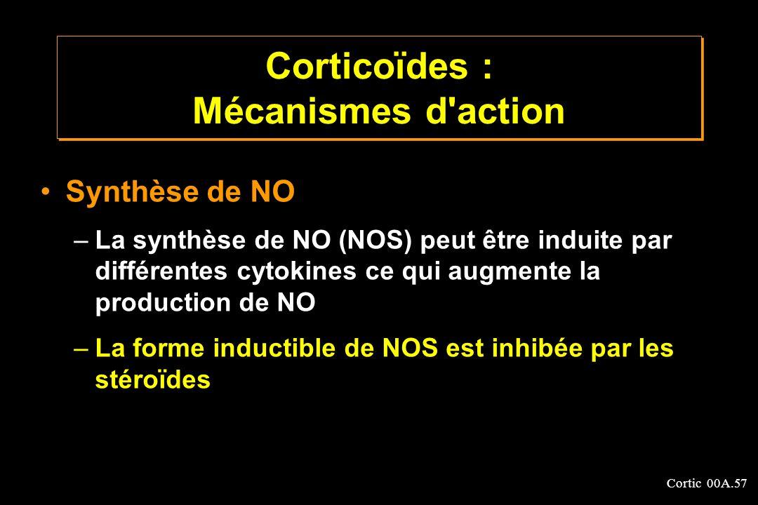 Corticoïdes : Mécanismes d action
