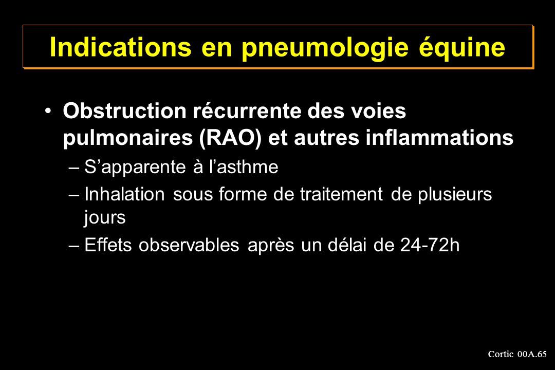 Indications en pneumologie équine